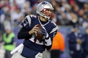 Nov 3, 2013; Foxborough, MA, USA; New England Patriots quarterback Tom Brady (12) throws a pass against the Pittsburgh Steelers in the first quarter at Gillette Stadium. Mandatory Credit: David Butler II-USA TODAY Sports