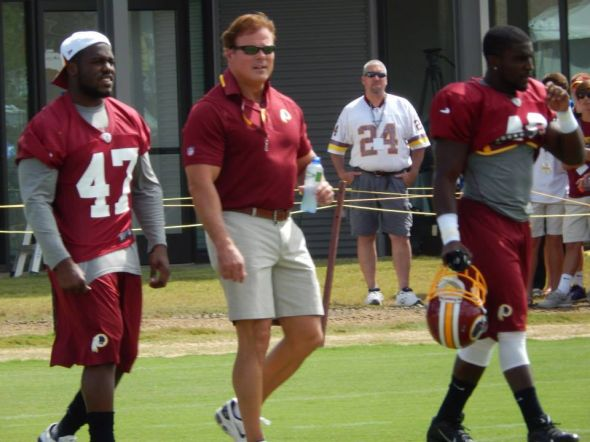 Dr Geoff Higgs at the Washington Redskins Training camp