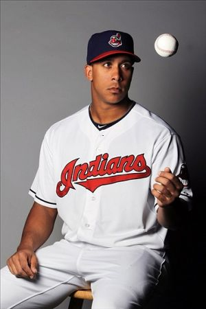 Feb 24, 2014; Goodyear, AZ, USA; Cleveland Indians outfielder Michael Brantley took part in the annual photo day at Goodyear Ballpark. Mandatory Credit: Lance Iversen-USA TODAY Sport