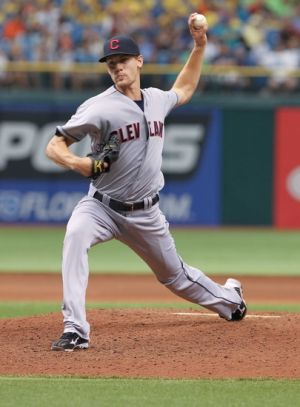 July 19, 2012; St. Petersburg, FL, USA; Cleveland Indians pitcher Scott Barnes (51) throws a pitch in the seventh inning against the Tampa Bay Rays at Tropicana Field. Tampa Bay Rays defeated the Cleveland Indians 6-0. (Credit: Kim Klement-USA TODAY Sports)