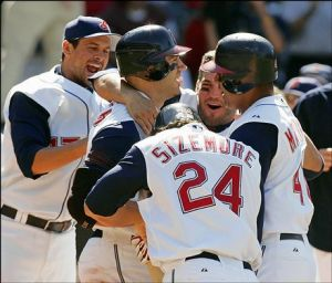 On this date 8 years ago, an offensive outburst like this one took place in Cleveland. (Credit: Mark Duncan, AP)