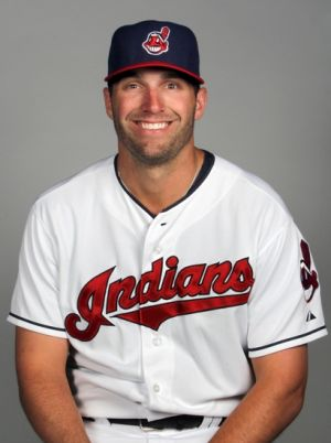 Feb 24, 2014; Goodyear, AZ, USA; Cleveland Indians outfielder Jeff Francoeur takes part in the annual photo day at Goodyear Ballpark. Mandatory Credit: Lance Iversen-USA TODAY Sports