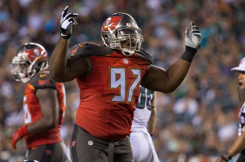 Aug 11, 2016; Philadelphia, PA, USA; Tampa Bay Buccaneers defensive tackle <a rel=
