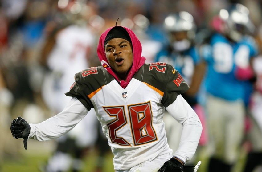 Oct 10, 2016; Charlotte, NC, USA; Tampa Bay Buccaneers cornerback <a rel=