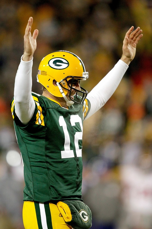 Packers fans are hoping they see Aaron Rodgers in this pose more than once today.