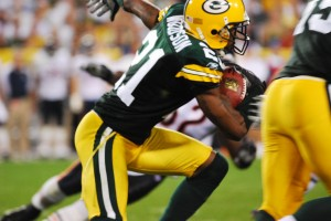 What's more exciting than Charles Woodson with the football? Will Ted Thompson consider reaching out to the former Packer in free agency? Raymond T. Rivard photograph
