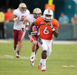 Lamar Miller is blowing away the Boston College defense.