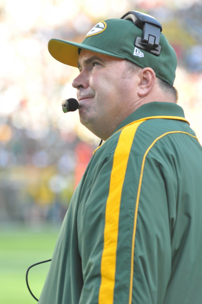 With Mike McCarthy, the past month has been difficult, but it's been plenty frustrating for Packers fans, too. Raymond T. Rivard photograph