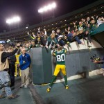Donald Driver Green Bay Packer Wide Receiver High-Fiving Fans