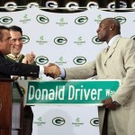 Green Bay Packer Wide Receiver Donald Driver retirement ceremony