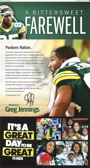 Greg Jennings did some good things while in Green Bay ... before he donned the purple of the Vikings. Raymond T. Rivard photograph