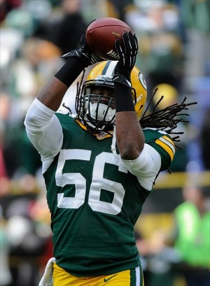 Green Bay Packer inside linebacker Terrell Manning