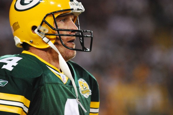 Brett Favre will be brought back into the Packers family, so says team President Mark Murphy. Raymond T. Rivard photograph