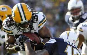 Tramon Williams intercepts against the San Diego Chargers.