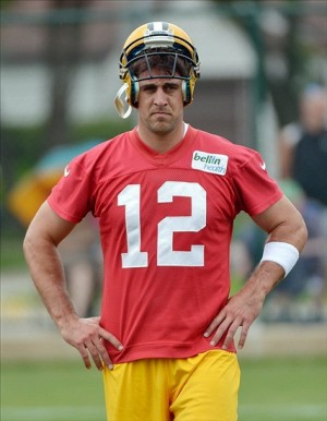 Packer Quarterback Aaron Rodgers