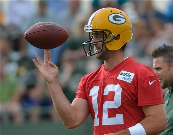 Aaron Rodgers will lead the Packers into training camp. Benny Sieu-USA TODAY Sports