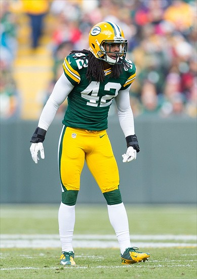 Morgan Burnett  42  during the game against the Arizona Cardinals at    Morgan Burnett