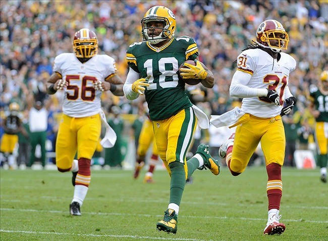 Randall Cobb will be running away from Cincinnati players