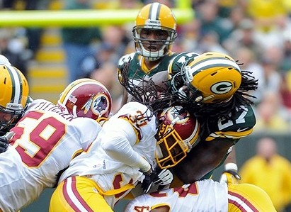 Eddie Lacy could be part of a one-two punch that will allow Aaron Rodgers free reign to rewrite the record books. Benny Sieu-USA TODAY Sports photograph