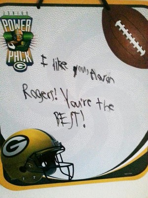 green bay packers board - aaron rodgers