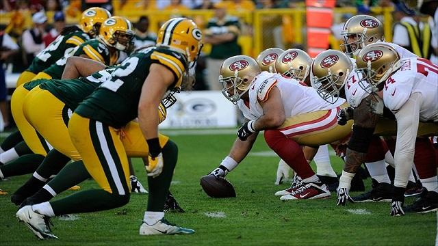 packers 49ers line what time is the nfl game tonight