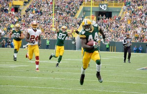 James Starks runs for a second half touchdown against the Washington Redskins last season. Brian Jopek photograph