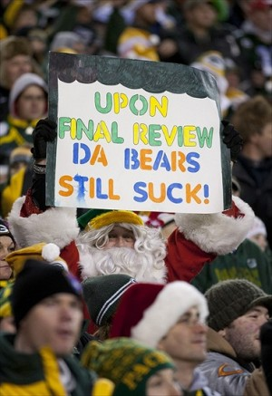 Even Santa knows the truth but will it be enough to bring home another NFC North Title? Mandatory Credit: Jeff Hanisch-USA TODAY Sports