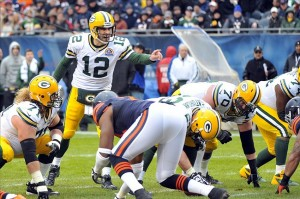 Green Bay Packers quarterback Aaron Rodgers will return to face the Chicago Bears in a winner take all battle. Photo Credit: Rob Grabowski-USA TODAY Sports photograph