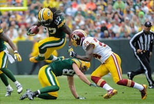 Eddie Lacy Benny Sieu-USA TODAY Sports