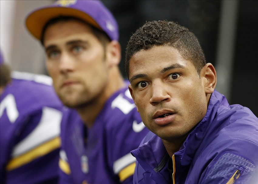 Josh Freeman was much like a deer in the headlights in his first and only appearance with the Vikings (for some time now because of his concussion). Bruce Kluckhohn-USA TODAY Sports