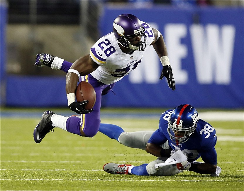 Adrian Peterson Chris Faytok/THE STAR-LEDGER via USA TODAY Sports photograph