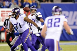 It looks as though the Minnesota Vikings quarterback Josh Freeman won't be throwing passes come Sunday night. Joe Camporeale-USA TODAY Sports photograph