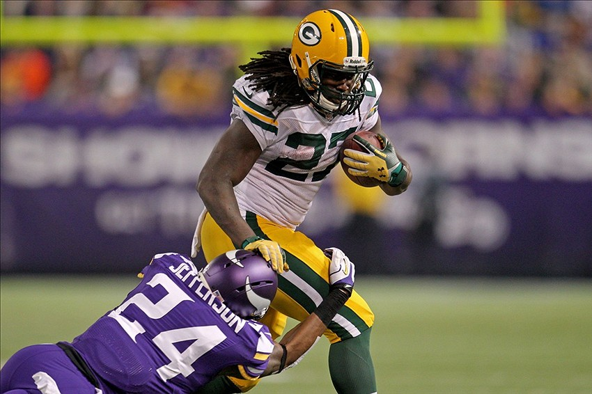 Green Bay Packers running back Eddie Lacy ran around and through the Minnesota Vikings last Sunday night. Brace Hemmelgarn-USA TODAY Sports photograph