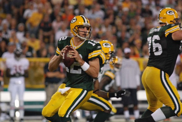 Aaron Rodgers has been good coming off the bye and Packers fans hope he's on his game Sunday against the Detroit Lions. Raymone T. Rivard photograph