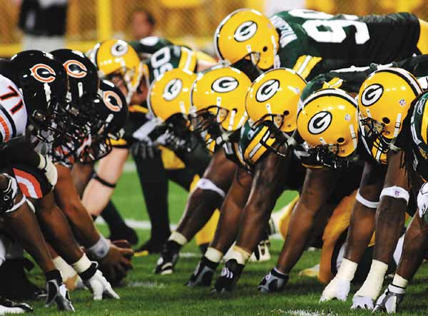 The Green Bay Packers and Chicago Bears will meet for the 187th time Monday Night. Raymond T. Rivard photograph