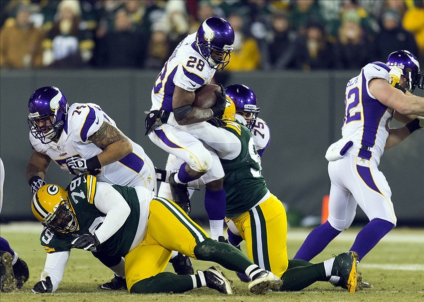The Packers will have to stop Minnesota Vikings running back Adrian Peterson. Where has that defense gone? Jeff Hanisch-USA TODAY Sports photograph