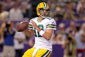 Green Bay Packers quarterback Aaron Rodgers Brace Hemmelgarn-USA TODAY Sports photograph