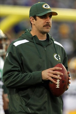 Green Bay Packers injured quarterback Aaron Rodgers Brad Penner-USA TODAY Sports photograph