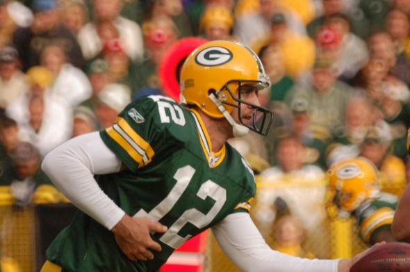 Will Aaron Rodgers be handing off for the Packers any time soon? Raymond T. Rivard photograph