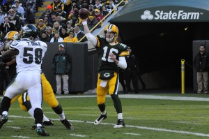 Scott Tolzien, the backup quarterback who was on the Packers' practice squad two weeks ago, was thrust into action last Sunday when Seneca Wallace went down with a groin injury. Raymond T. Rivard photograph