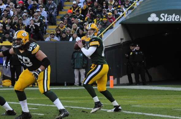 Where do Scott Tolzien and the Green Bay Packers rank this week? Raymond T. Rivard photograph