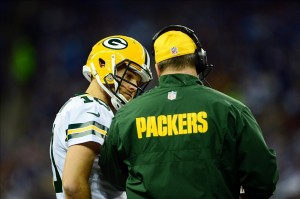 Matt Flynn will take the first team reps in practice while Aaron Rodgers continues his rehab, according to head coach Mike McCarthy. Andrew Weber-USA TODAY Sports photography