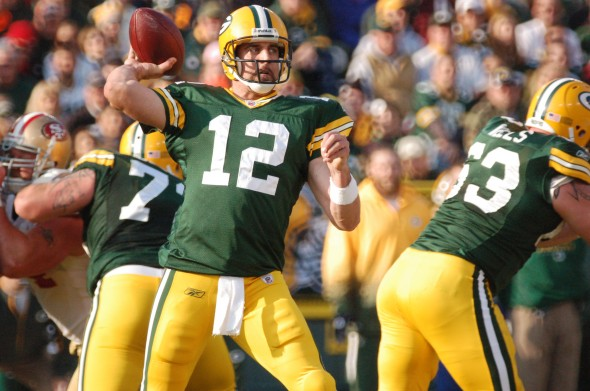 Aaron Rodgers will not be back on the field this weekend. Raymond T. Rivard photograph