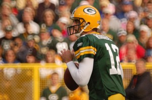 Aaron Rodgers is the best money can buy. Raymond T. Rivard photograph