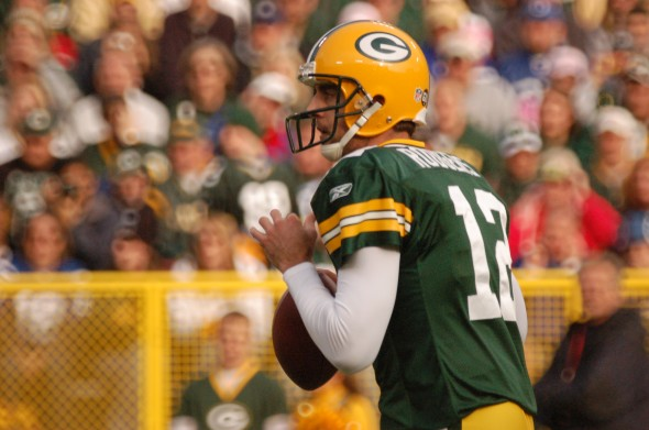 Aaron Rodgers is the best money can buy, but the cost of keeping an MVP QB affects the rest of the team. Raymond T. Rivard photograph