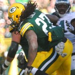 Ted Thompson hit a home run with Eddie Lacy, a hard-nosed runner who has given the team a new dimension. Raymond T. Rivard photograph
