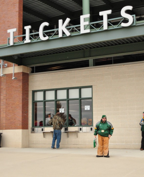 The Packers ticket office is usually one of the loneliest places on game day for the Packers. Now with the demand at an all-time low - as well as prices - it's the best time to pay a visit or give a call. Raymond T. Rivard photograph