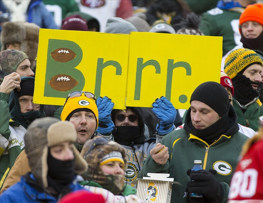 The mystique of a cold Lambeau Field has melted in recent years.