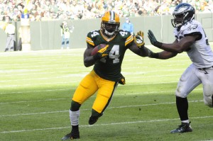 James Starks carries against the Philadelphia Eagles at Lambeau Field last November. Raymond T. Rivard photograph