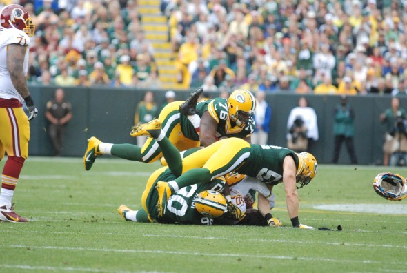 The Green Bay defense was tenacious in the first six games, but then the injuries started to mount. Brian Jopek photograph